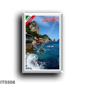 IT0306 Europe - Italy - Campania - Capri - Marina Piccola and the Faraglioni