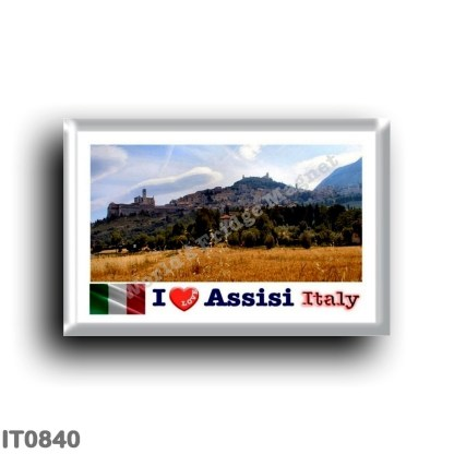 IT0840 Europe - Italy - Umbria - Assisi - View - I Love