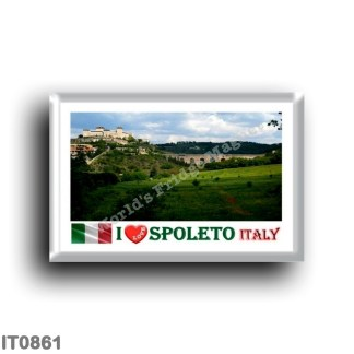 IT0861 Europe - Italy - Umbria - Spoleto - I Love