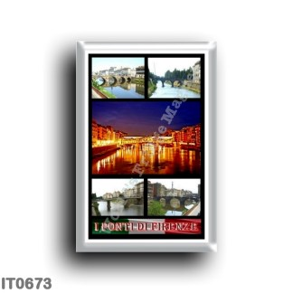 IT0673 Europe - Italy - Tuscany - Florence - bridges - Mosaic