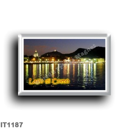 IT1187 Europe - Italy - Lombardy - Como by night