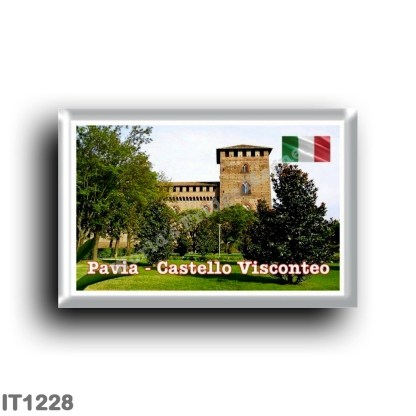 IT1228 Europe - Italy - Lombardy - Pavia - Visconteo castle, side view