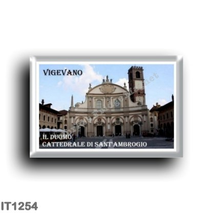 IT1254 Europe - Italy - Lombardy - Vigevano - The Duomo Cathedral of Sant'Ambrogio