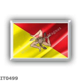 IT0499 Europe - Italy - Sicily - Flag Waving