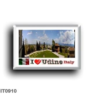 IT0910 Europe - Italy - Friuli Venezia Giulia - Udine - Panorama Castello - I Love