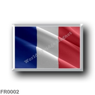 FR0002 Europe - France - French flag - waving
