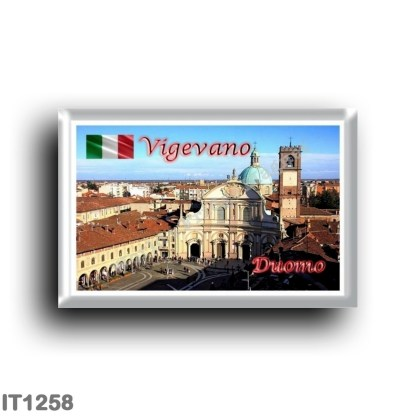 IT1258 Europe - Italy - Lombardy - Vigevano - Piazza - Duomo from the Tower