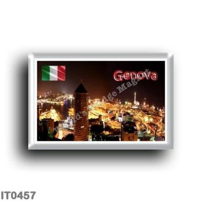 IT0457 Europe - Italy - Liguria - Genoa - Panoramic Port