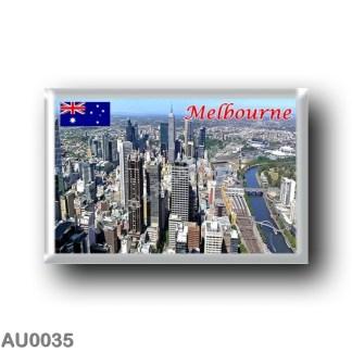 AU0035 Oceania - Australia - Melbourne - City e fiume Yarra