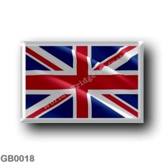 GB0018 Europe - England - UK Flag Waving United Kingdom