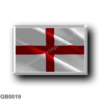 GB0019 Europe - England - Waving Flag