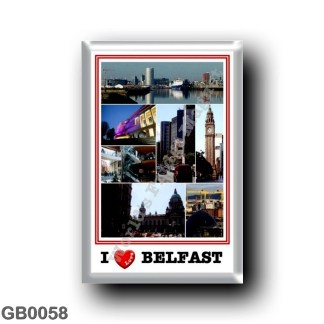 GB0058 Europe - Northern Ireland - Belfast - I Love