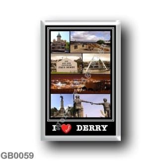 GB0059 Europe - Northern Ireland - Derry - I Love