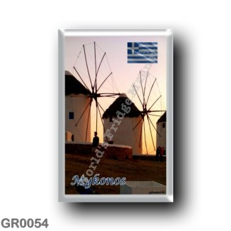 GR0054 Europe - Greece - Mykonos - Windmills