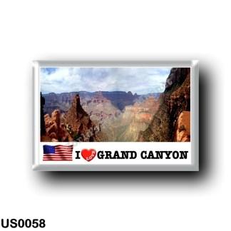 US0058 America - United States - National Park - Grand Canyon - I Love