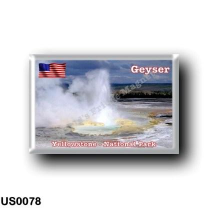 US0078 America - United States - National Park - Yellowstone - Geyser