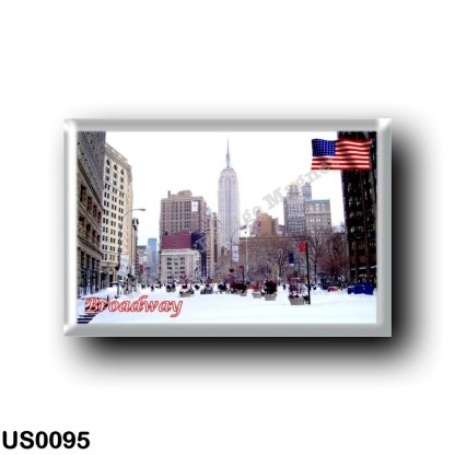 US0095 America - United States - New York City - Broadway with snow
