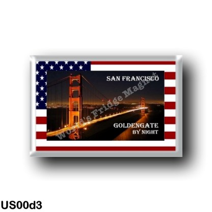 US00d3 America - United States - San Francisco - Golden Gate - By Nigth