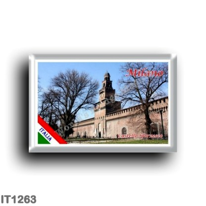 IT1263 Europe - Italy - Lombardy - Milan - Sforzesco Castle