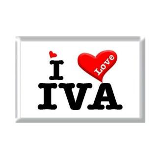 I Love IVA rectangular refrigerator magnet