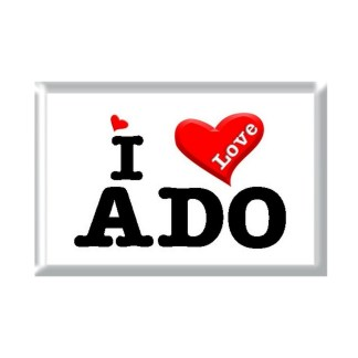 I Love ADO rectangular refrigerator magnet