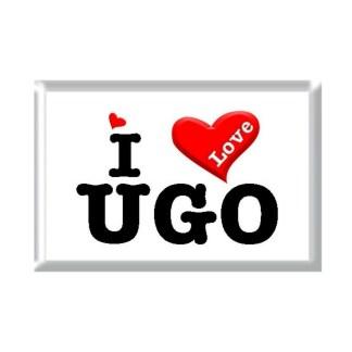 I Love UGO rectangular refrigerator magnet