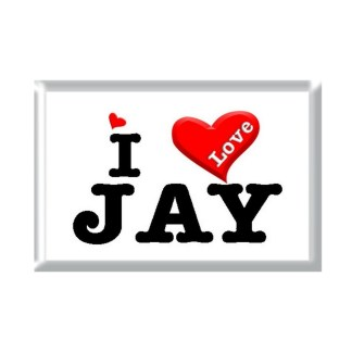 I Love JAY rectangular refrigerator magnet