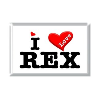 I Love REX rectangular refrigerator magnet
