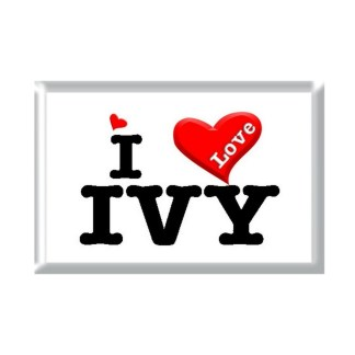 I Love IVY rectangular refrigerator magnet