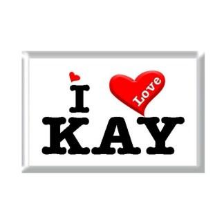 I Love KAY rectangular refrigerator magnet