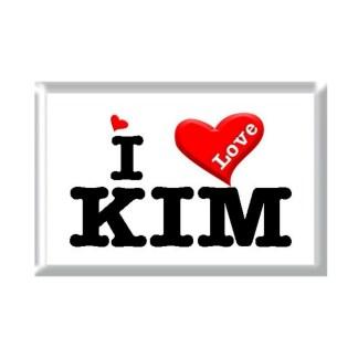 I Love KIM rectangular refrigerator magnet