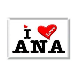 I Love ANA rectangular refrigerator magnet