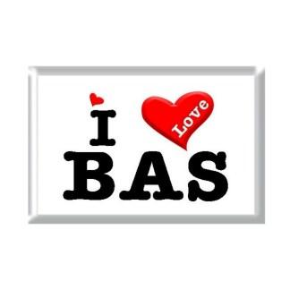 I Love BAS rectangular refrigerator magnet