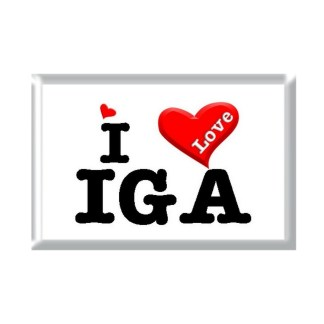 I Love IGA rectangular refrigerator magnet