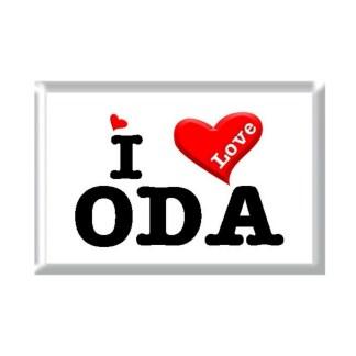 I Love ODA rectangular refrigerator magnet