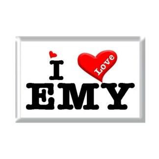 I Love EMY rectangular refrigerator magnet