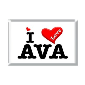 I Love AVA rectangular refrigerator magnet