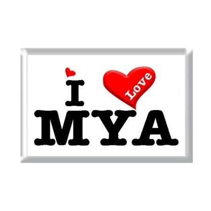 I Love MYA rectangular refrigerator magnet