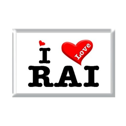 I Love RAI rectangular refrigerator magnet