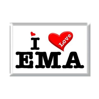 I Love EMA rectangular refrigerator magnet