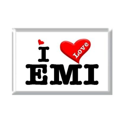 I Love EMI rectangular refrigerator magnet