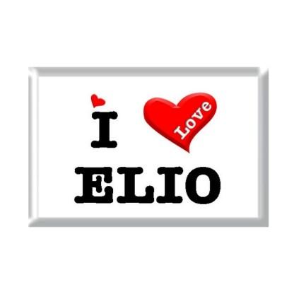 I Love ELIO rectangular refrigerator magnet