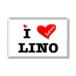 I Love LINO rectangular refrigerator magnet