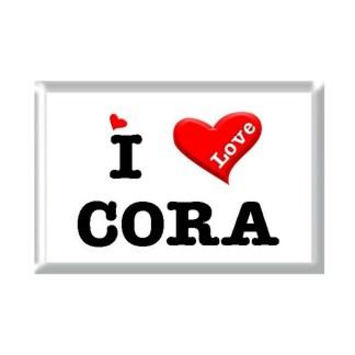I Love CORA rectangular refrigerator magnet