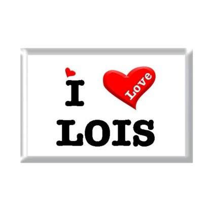 I Love LOIS rectangular refrigerator magnet