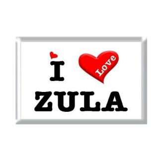 I Love ZULA rectangular refrigerator magnet
