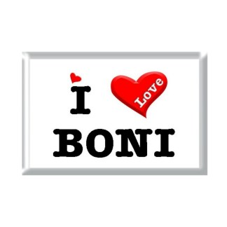 I Love BONI rectangular refrigerator magnet