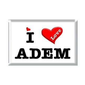 I Love ADEM rectangular refrigerator magnet