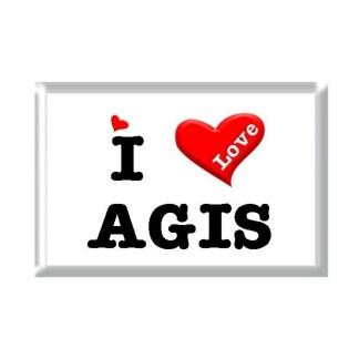 I Love AGIS rectangular refrigerator magnet