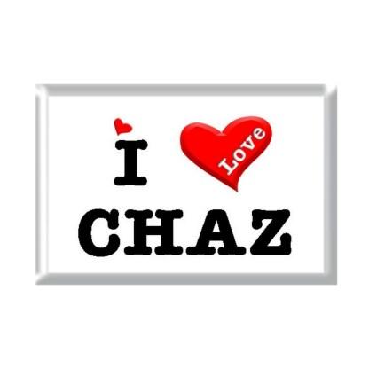 I Love CHAZ rectangular refrigerator magnet